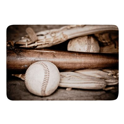 Play Ball by Debbra Obertanec Bath Mat Size: 17W x 24L