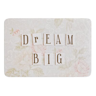 Dream Big by Debbra Obertanec Bath Mat Size: 24 W x 36 L
