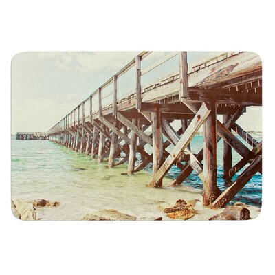 On The Pier by Debbra Obertanec Bath Mat Size: 24 W x 36 L