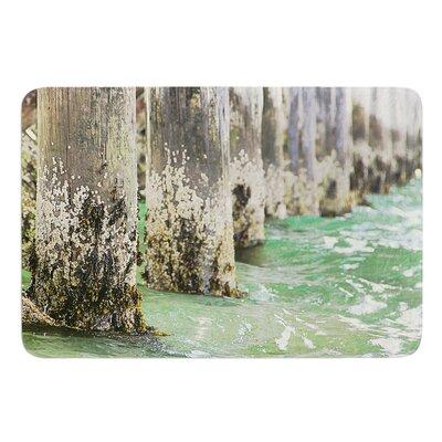 Saltwater Pylons by Debbra Obertanec Bath Mat Size: 17W x 24L