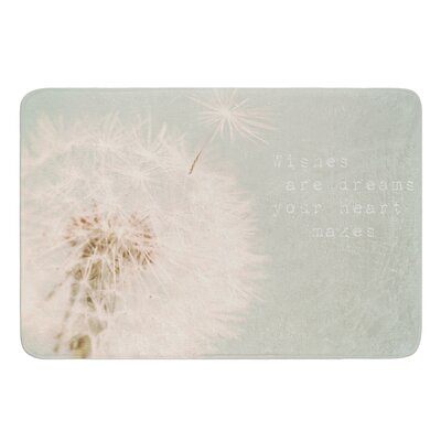 Wishes Are Dreams by Debbra Obertanec Bath Mat Size: 17W x 24L