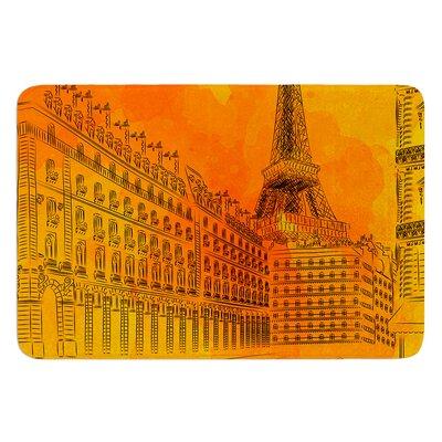 Parisian Sunsets by Fotios Pavlopoulos Bath Mat Size: 17W x 24L