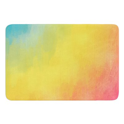 Watercolor Layers by Fotios Pavlopoulos Bath Mat Size: 17W x 24L