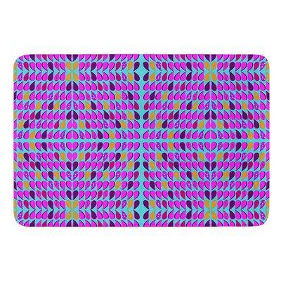 Optical Paisley by Fernanda Sternieri Bath Mat Size: 17W x 24L