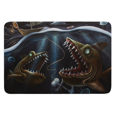 Sink or Swim by Graham Curran Bath Mat Size: 17W x 24L
