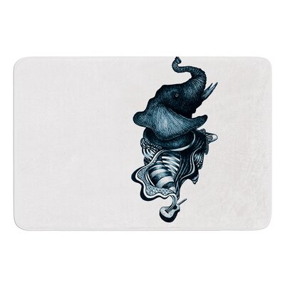 Elephant Guitar by Graham Curran Bath Mat Size: 17W x 24L