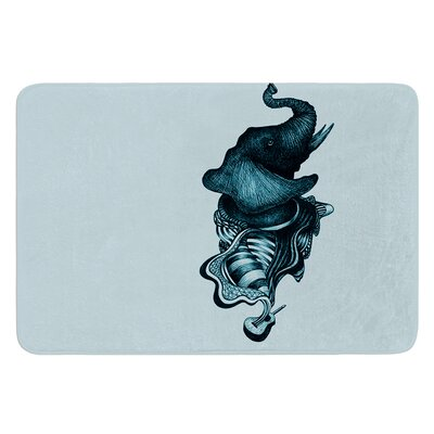 Elephant Guitar II by Graham Curran Bath Mat Size: 17W x 24L