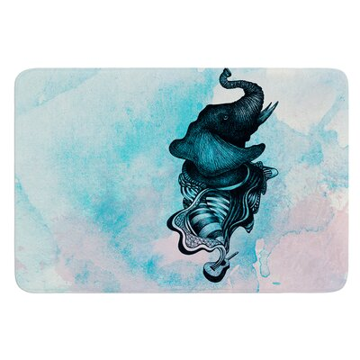Elephant Guitar III by Graham Curran Bath Mat Size: 17W x 24L