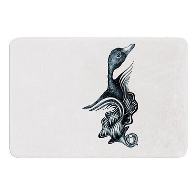 Swan Horns by Graham Curran Bath Mat Size: 17W x 24L