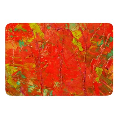 Crimson Forest by Jeff Ferst Bath Mat Size: 24 W x 36 L