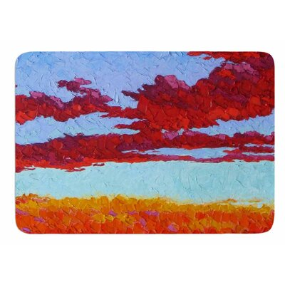 Spring Sunset over Wildflowers by Jeff Ferst Bath Mat
