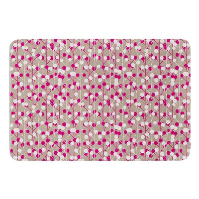 Wineberry by Julie Hamilton Bath Mat Size: 17 W x 24 L