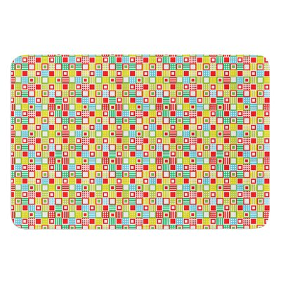 Colorful Check by Julie Hamilton Bath Mat Size: 17 W x 24 L