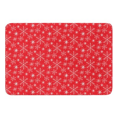 Snowflake Berry by Julie Hamilton Bath Mat Size: 17