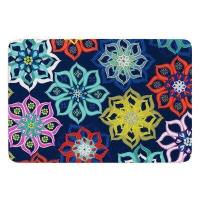 Multi Flower by Jolene Heckman Bath Mat Size: 17 W x 24 L