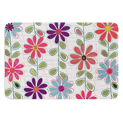 Fall Flowers by Jolene Heckman Bath Mat Size: 24 W x 36 L