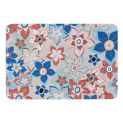 Marsala Floral Mix by Jolene Heckman Bath Mat Size: 17