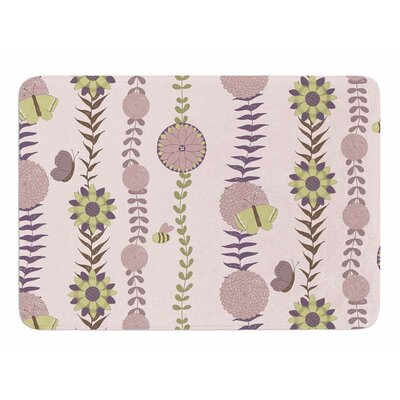 Purple Flower by Judith Loske Bath Mat