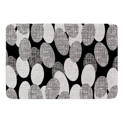 Seeds Monochrome by Jacqueline Milton Bath Mat Size: 17 W x 24 L