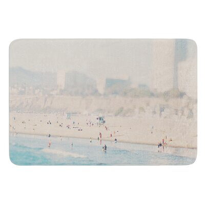 Santa Monica Beach by Laura Evans Bath Mat