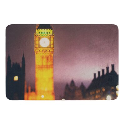 Westminster at Night by Laura Evans Bath Mat