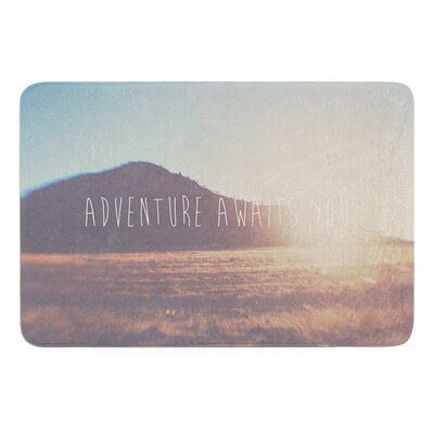 Adventure Awaits You by Laura Evans Bath Mat