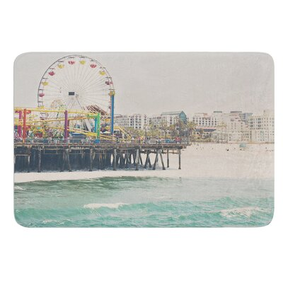 The Pier at Santa Monica by Laura Evans Bath Mat