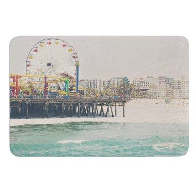 The Pier at Santa Monica by Laura Evans Bath Mat