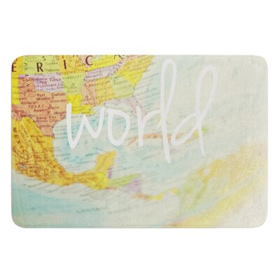 What a Wonderful World by Libertad Leal Bath Mat
