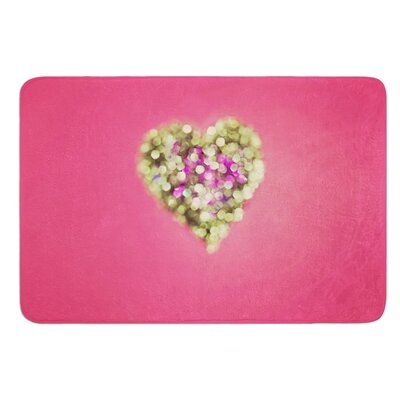 Make Your Love Sparkle by Beth Engel Bath Mat Size: 17W x 24L