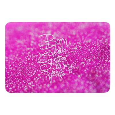 Born with Glitter by Beth Engel Bath Mat Size: 24 W x 36 L