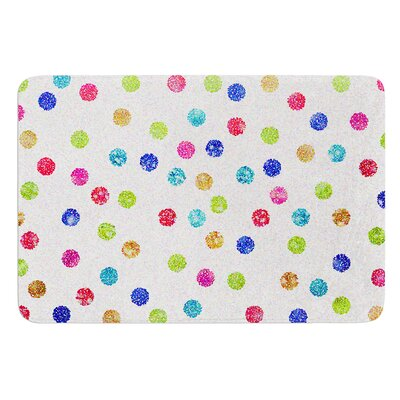 Seeing Dots by Beth Engel Bath Mat Size: 17W x 24L