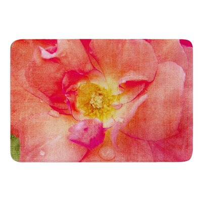 Pink Rose by Catherine McDonald Bath Mat Size: 24 W x 36 L