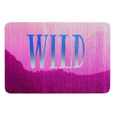 Wild by Catherine McDonald Bath Mat Size: 24 W x 36 L