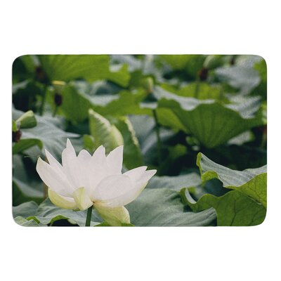 Lotus by Catherine McDonald Bath Mat Size: 17W x 24 L