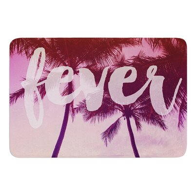 Fever by Catherine McDonald Bath Mat Size: 17W x 24 L