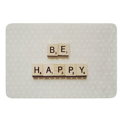 Be Happy by Cristina Mitchell Bath Mat Size: 17W x 24 L