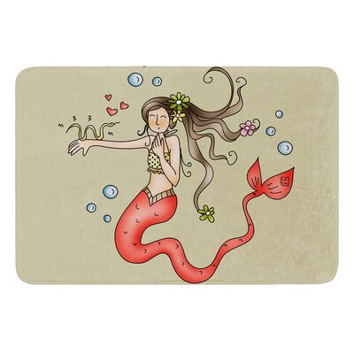 Mermaids Lovely by Carina Povarchik Bath Mat Size: 17W x 24 L