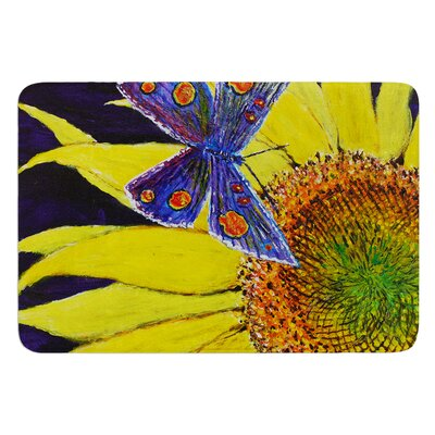 Butterfly by David Joyner Bath Mat Size: 17W x 24L