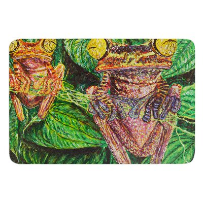 Frogs by David Joyner Bath Mat Size: 17W x 24L
