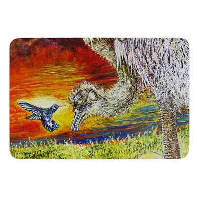 Ostrich by David Joyner Bath Mat Size: 17W x 24L