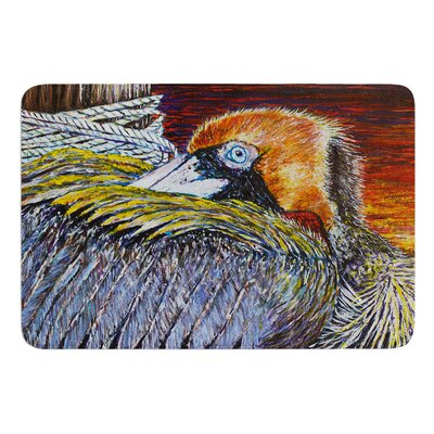 Pelican by David Joyner Bath Mat Size: 17W x 24L