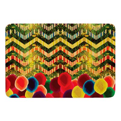 Chevron and Dots by Deepti Munshaw Bath Mat Size: 24 W x 36 L