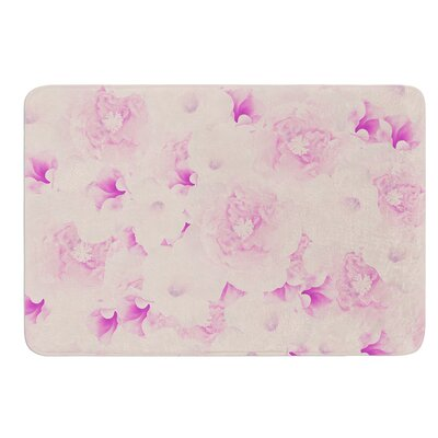 Blush Bouquet by Deepti Munshaw Bath Mat Size: 17W x 24L