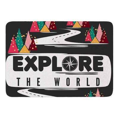 Explore the World by Famenxt Bath Mat
