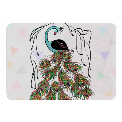 Colorful Peacock by Famenxt Bath Mat