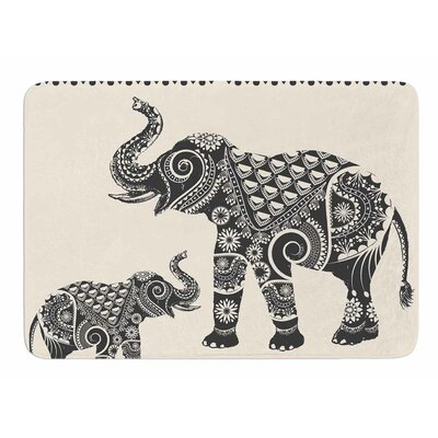 Ornate Indian Elephant Boho Bath Mat