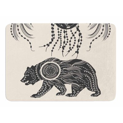 Boho Ornate Bear Bath Mat