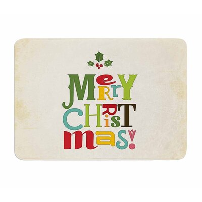Merry Christmas by Noonday Design Memory Foam Bath Mat