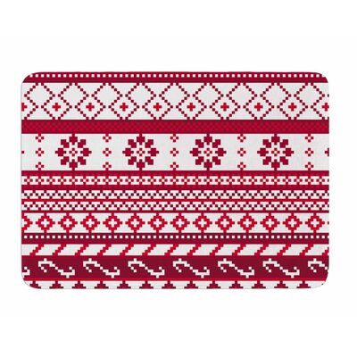 Fair isle Christmas Pattern by Noonday Design Memory Foam Bath Mat